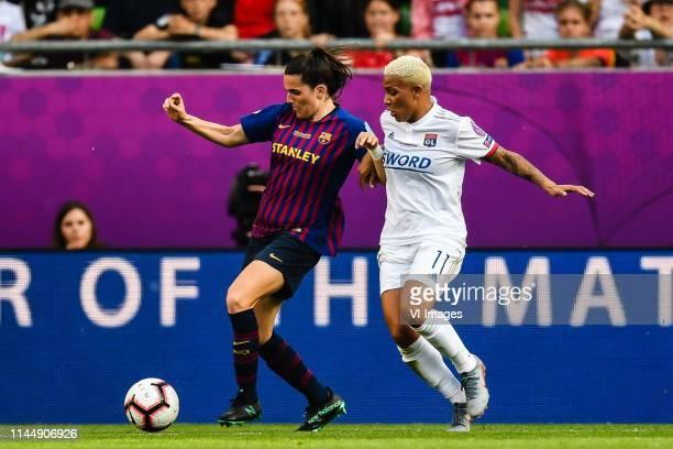 Andrea Pereira of FC Barcelona women Shanice van de Sanden of Olympique Lyonnais women during the UEFA Women's Champions League final match between...