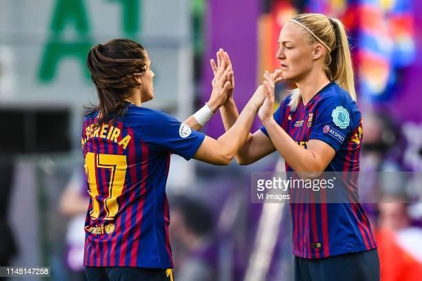 Andrea Pereira of FC Barcelona women Stefanie van der Gragt of FC Barcelona women during the UEFA Women's Champions League final match between...