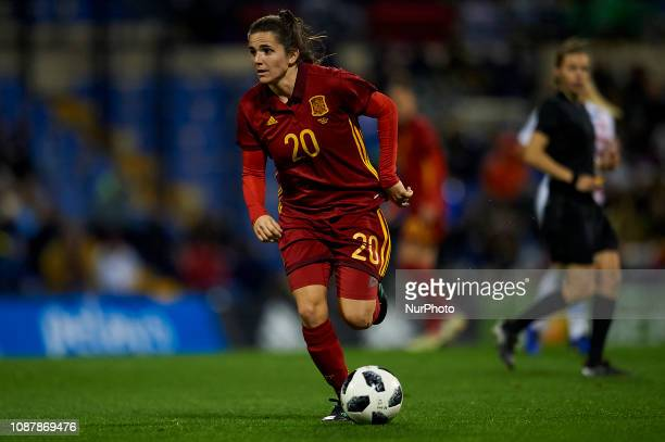 Andrea Pereira of Spain in action during the friendly match between Spain and USA at Rico Perez Stadium in Alicante Spain on January 22 2019