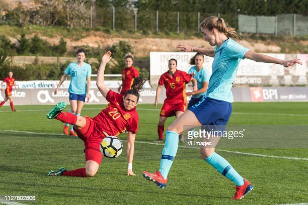 Andrea Pereira of Spain women Vivianne Miedema of Holland Women during the Algarve Cup 2019 match between Spain and The Netherlands at Estadio...