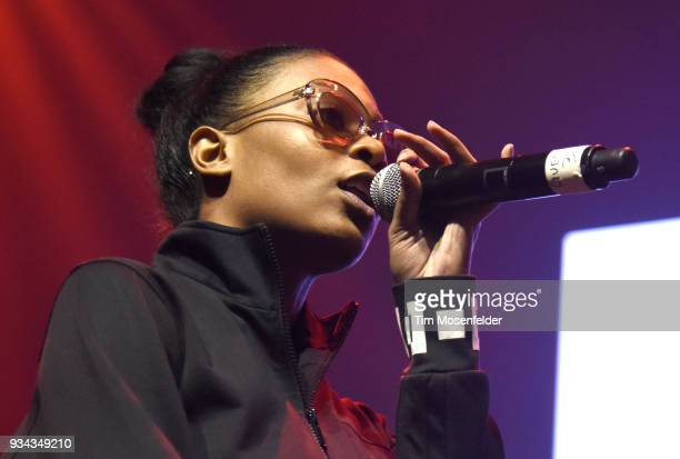 Andrea performs during the SXSW Takeover Eardummers Takeover at ACL Live at the Moody Theatre during SXSW 2018 on March 16 2018 in Austin Texas