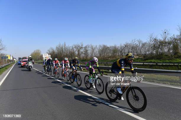 Andrea Peron of Italy and Team Novo Nordisk, Alessandro Tonelli of Italy and Team Bardiani Csf Faizane', Charles Planet of France and Team Novo...