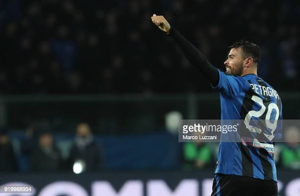 Andrea Petagna of Atalanta BC celebrates his goal during the serie A match between Atalanta BC and ACF Fiorentina at Stadio Atleti Azzurri d'Italia...