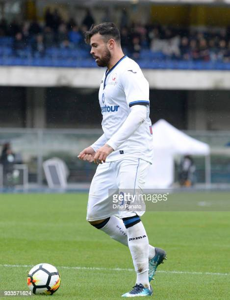 Andrea Petagna of Atalanta BC during the serie A match between Hellas Verona FC and Atalanta BC at Stadio Marc'Antonio Bentegodi on March 18 2018 in...
