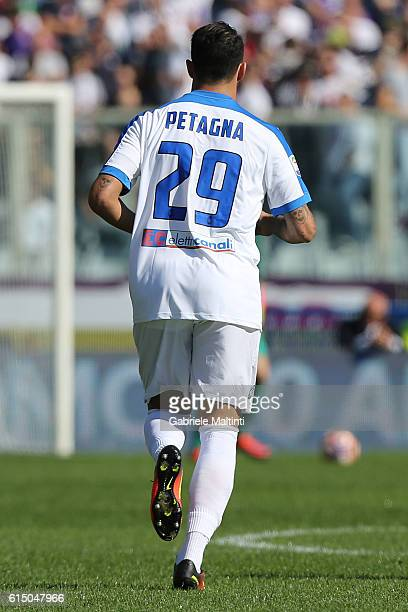 Andrea Petagna of Atalanta BC in action during the Serie A match between ACF Fiorentina and Atalanta BC at Stadio Artemio Franchi on October 16 2016...