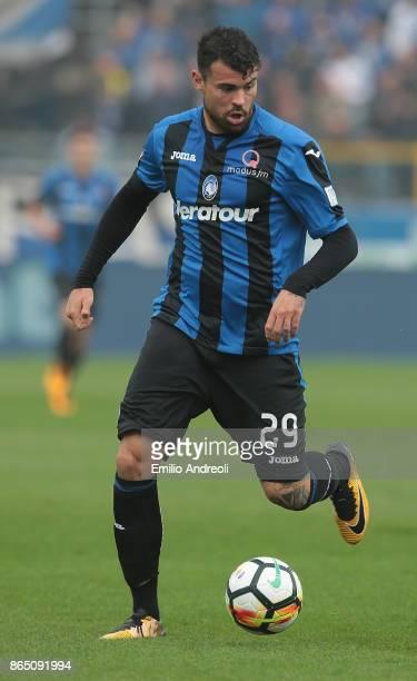Andrea Petagna of Atalanta BC in action during the Serie A match between Atalanta BC and Bologna FC at Stadio Atleti Azzurri d'Italia on October 22...