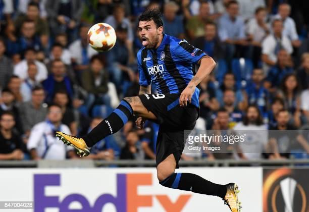 Andrea Petagna of Atalanta in action during the UEFA Europa League group E match between Atalanta and Everton FC at Stadio Citta del Tricolore on...