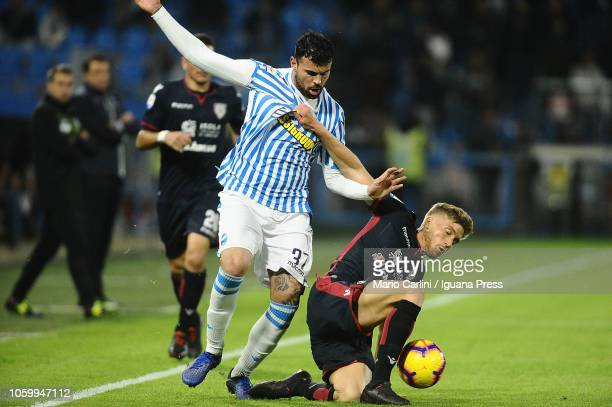 Andrea Petagna of SPAL in action during the Serie A match between SPAL and Cagliari at Stadio Paolo Mazza on November 11 2018 in Ferrara Italy