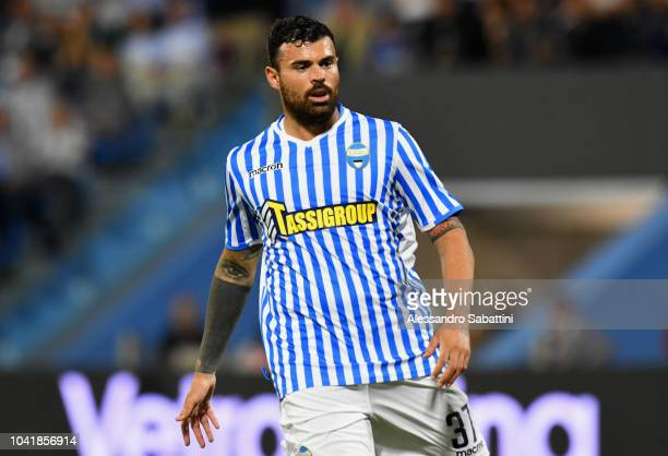 Andrea Petagna of Spal looks on during the serie A match between SPAL and US Sassuolo at Stadio Paolo Mazza on September 27 2018 in Ferrara Italy