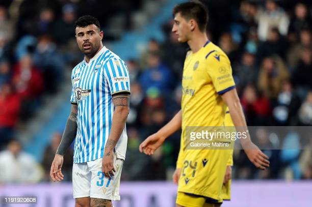Andrea Petagna of Spal shows his dejection during the Serie A match between SPAL and Hellas Verona at Stadio Paolo Mazza on January 5 2020 in Ferrara...