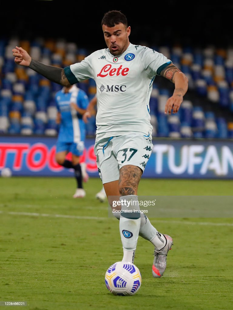 Andrea Petagna of SSC Napoli during the match between Napoli v... News  Photo - Getty Images