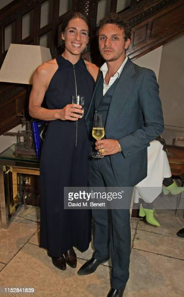 Andrea Petkovic and Jesse Kotansky attend the Roland Mouret 'Women In Sport' dinner on June 29 2019 in London England