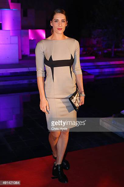 Andrea Petkovic arrives at the 2015 China Open Player Party at The Birds Nest on October 5 2015 in Beijing China