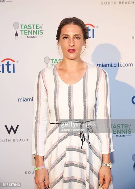 Andrea Petkovic attends Taste Of Tennis At W South Beach #TASTEOFTENNIS at W Hotel on March 21 2016 in Miami Florida