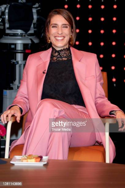 """Andrea Petkovic during the """"3 nach 9"""" talkshow on October 16, 2020 in Bremen, Germany."""