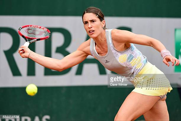 Andrea Petkovic during the Women's Singles second round on day five of the French Open 2016 at Roland Garros on May 26 2016 in Paris France