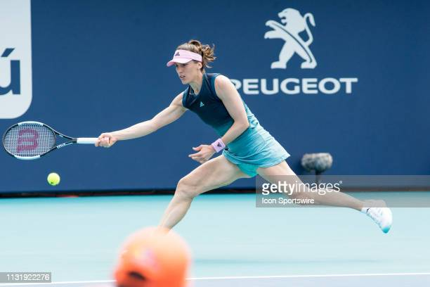 Andrea Petkovic in action during the Miami Open on March 20 2019 at Hard Rock Stadium in Miami Gardens FL