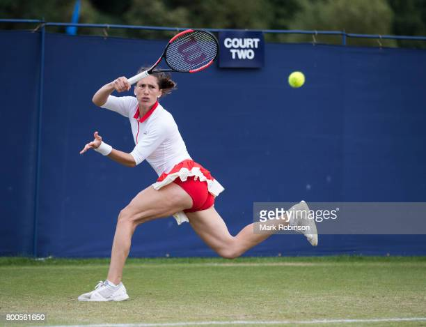 Andrea Petkovic of Germany during her semi final match during the Aegon Ilkley Trophy on June 24 2017 in Ilkley England