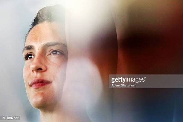 Andrea Petkovic of Germany looks on during a luncheon held by Toni Harp the Mayor of New Haven Connecticut on day 4 of the Connecticut Open at the...