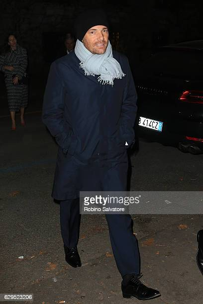 Andrea Pezzi arrives at Fondazione IEO CMM Christmas Charity Dinner at Villa Necchi on December 13 2016 in Milan Italy