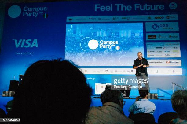 Andrea Pezzi attends Campus Party on July 20, 2017 in Milan, Italy.