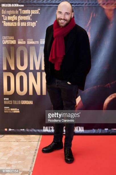 Andrea Pezzi attends 'Nome di Donna' premiere on March 7 2018 in Milan Italy
