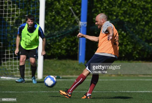 Andrea Pezzi in action during a friendly match during the Italian Football Federation Kick Off Seminar on May 21 2017 in Florence Italy
