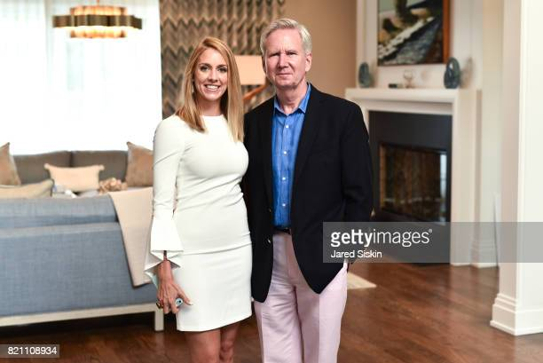 Andrea Piacentino and Ken Genes attend 2017 Hampton Designer Showhouse Gala Preview Cocktail Party at a Private Residence on July 22 2017 in...