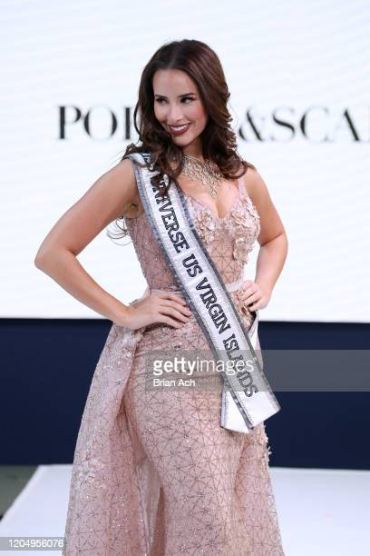 Andrea Piecuch walks the runway wearing Portia & Scarlett Couture; Special Showcase by Celebrity Jeweler Mike Nekta New York during NYFW Powered By...