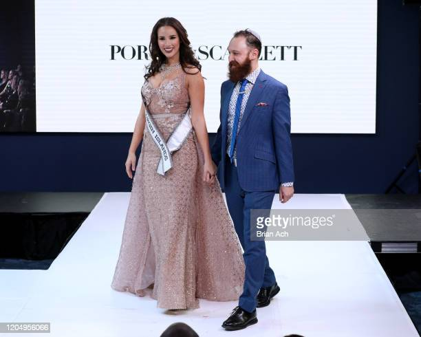 Andrea Piecuch walks the runway wearing Portia&Scarlett Couture with Celebrity Jeweler Mike Nekta New York during NYFW Powered By hiTechMODA on...