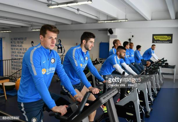Andrea Pinamonti looks on during the FC Internazionale training session at Suning Training Center at Appiano Gentile on February 10 2017 in Como Italy