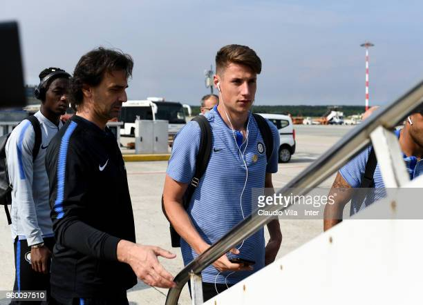 Andrea Pinamonti of FC Internazionale departs on May 19 2018 in Rome Italy