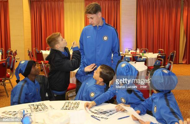 Andrea Pinamonti of FC Internazionale during FC Internazionale Youth Teams Christmas Party on December 20 2017 in near Milan Italy