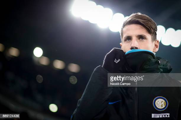 Andrea Pinamonti of FC Internazionale looks on prior to the Serie A football match between Juventus FC and FC Internazionale The match ended in a 00...