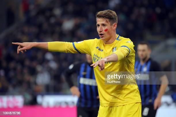Andrea Pinamonti of Frosinone Calcio during the serie A match between FC Internazionale and Frosinone Calcio at Stadio Giuseppe Meazza on November 24...