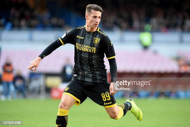 Andrea Pinamonti of Frosinone Calcio during the Serie A TIM match between SSC Napoli and Frosinone Calcio at Stadio San Paolo Naples Italy on 8...