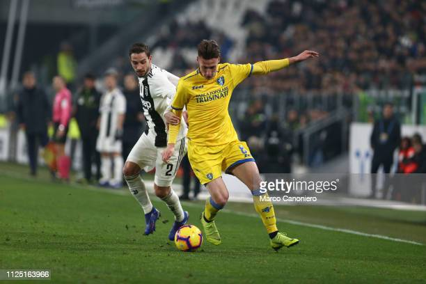 Andrea Pinamonti of Frosinone Calcio in action during the Serie A football match between Juventus Fc and Frosinone Calcio Juventus Fc wins 30 over...