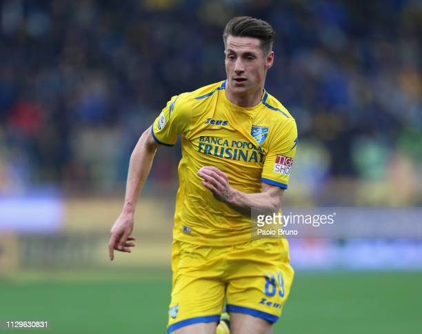 Andrea Pinamonti of Frosinone calcio in action during the Serie A match between Frosinone Calcio and Torino FC at Stadio Benito Stirpe on March 10...