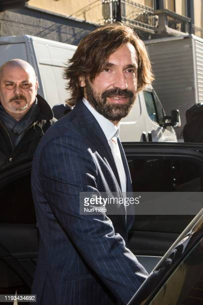 Andrea Pirlo arrives at Etro fashion show during the Milan Fashion Week 2020 in Milan Italy on January 12 2020