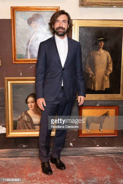 Andrea Pirlo attends the Etro fashion show on January 12 2020 in Milan Italy