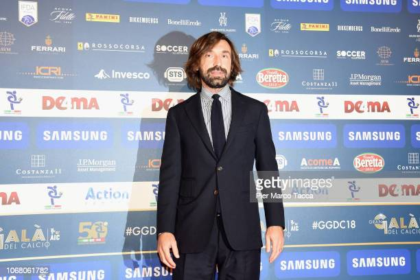 Andrea Pirlo attends the 'Oscar Del Calcio AIC' Italian Football Awards on December 3, 2018 in Milan, Italy.