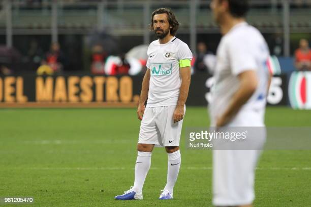 Andrea Pirlo during quotLa partita del Maestroquot his farewell match at Giuseppe Meazza stadium on May 21 2018 in Milan Italy
