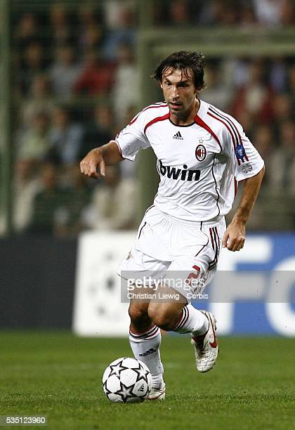 Andrea Pirlo during the 20062007 UEFA Champions League group phase match between LOSC and AC Milan in Lens