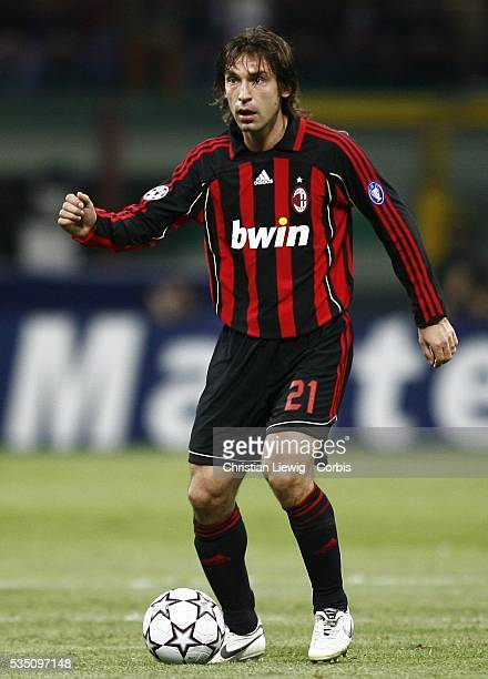 Andrea Pirlo during the 20062007 UEFA Champions League match between Milan AC and Bayern Munich