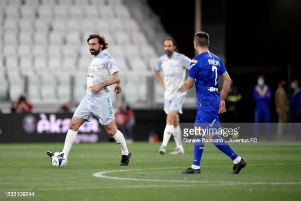 Andrea Pirlo during the 30th 'Partita Del Cuore' charity friendly match at Allianz Stadium on May 25, 2021 in Turin, Italy.
