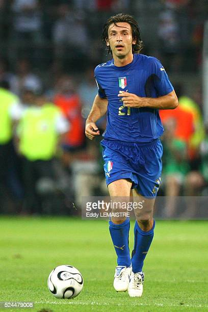 Andrea Pirlo during the FIFA World Cup 2006 semi final match between Germany and Italy in Dortmund Germany Italy won 20 in extra time