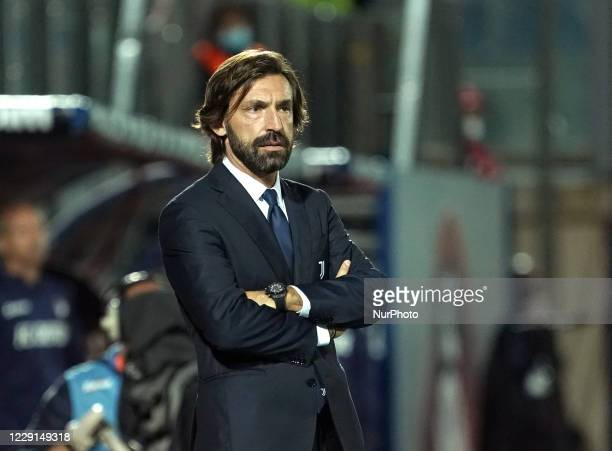 Andrea Pirlo head coach of Juventus Fc during the Serie A match between Fc Crotone and Juventus Fc on October 17 2020 stadium quotEzio Scidaquot in...