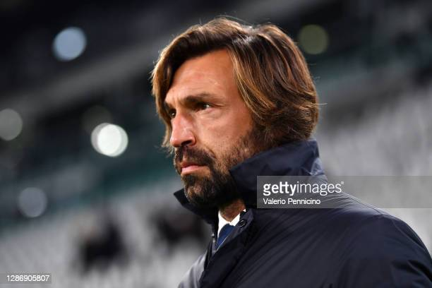 Andrea Pirlo, Head Coach of Juventus looks on prior to the Serie A match between Juventus and Cagliari Calcio at Allianz Stadium on November 21, 2020...