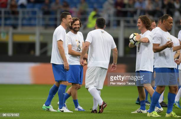 Andrea Pirlo in action during Andrea Pirlo Farewell Match at Stadio Giuseppe Meazza on May 21 2018 in Milan Italy