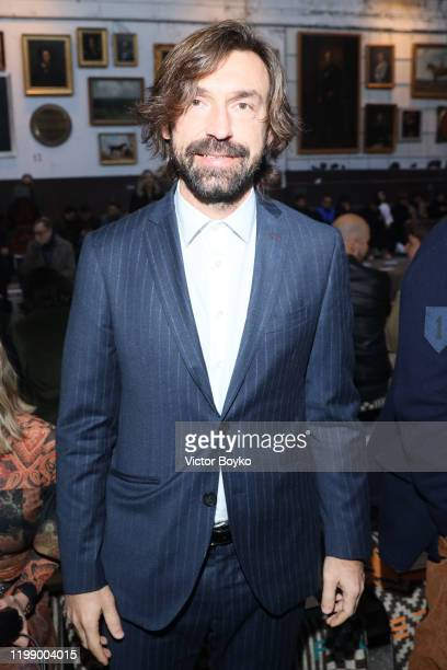 Andrea Pirlo is seen at the Etro fashion show on January 12 2020 in Milan Italy